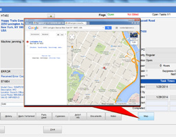 Technician scheduling Google Map integration